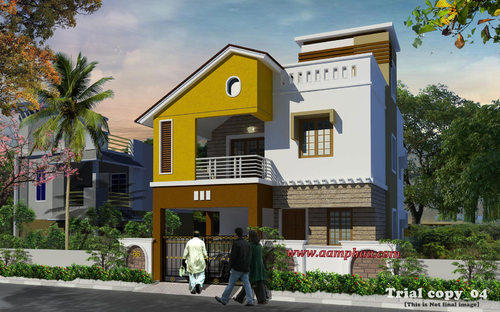 Front Elevation Of Residential Houses : Interior designing service flat designers home