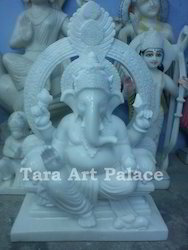 Marble White Statue Ganesh