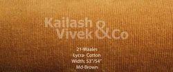 21 Wale Cotton Lycra Fabric