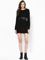 Sweater Dress with Detailed Waist