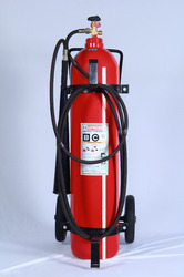 Supremex Stainless Steel Trolley Mounted Carbon Dioxide Extinguisher