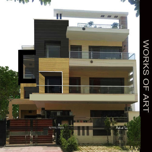 Modern Luxury House Design New Delhi Residence Pictures: Residential Exterior Services