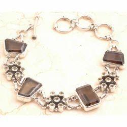 Stunning 925 Sterling Silver Smoky Quartz Bracelet