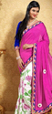 Pink And Multi Color Saree