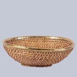 Oval Shallow Wicker Fruit Basket
