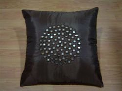 Hand Work Black Cushion Cover