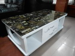 Glass Coffee Table- White