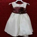 Poly Silk Dress with Detachable Sash