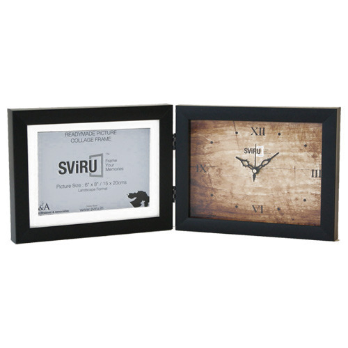 7d7f8fea843 Table Top Photo Frame With Clock - Clock Photo Frame Manufacturer ...
