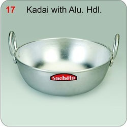 Kadai with Aluminum Handle
