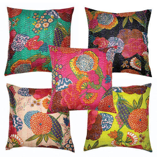 Tropicana kantha cushion pillow covers