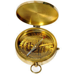 Flat Brass Compass