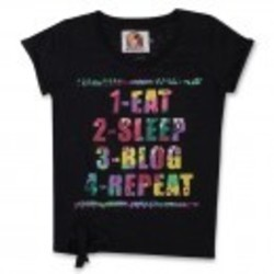 Eat Sleep Blog Womens T-Shirt