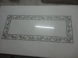 White Marble Dining Table with Inlay