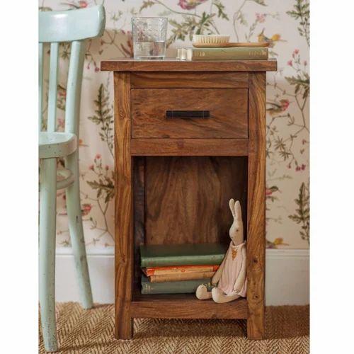 Surin Sheesham Bedside Cabinet Wooden Furniture Shastri Nagar