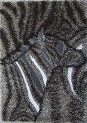 Rectangular Black Designer Polyester Shaggy Rugs, for Bedroom, Commercial
