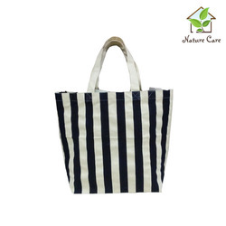Stripes Printed Canvas Bags