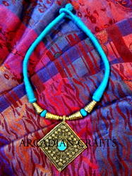 Ethnic Necklace Sets With Brass Pendant