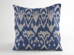 Ikat Kantha Cushion Cover