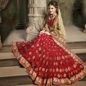 Fancy Heavy Embroidery Red Wedding Sarees