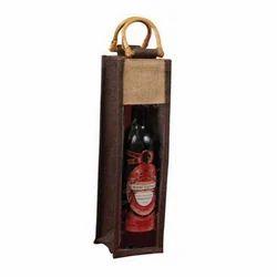 Jute Wine Bottle Bags
