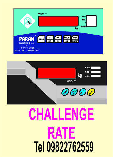Weighing scale stickers