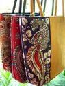 Raw Silk Tote Bag Kalamkari Tote Bags