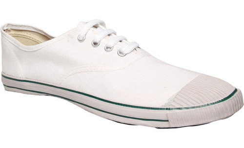 Bata White Canvas School Shoes