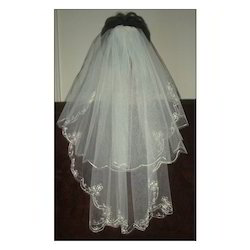 White Embroidery Wedding Veils