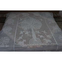 Indian Handmade Applique Bed Cover