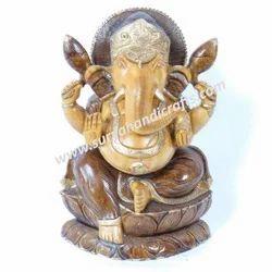 Wooden Antique Ganesha