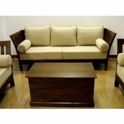 3 Seater Teak Wooden Sofa, टीक सोफा In Goregaon, Mumbai , Furny Store | ID: 6930922288