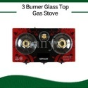 House Hold Hot Selling 3 Burner Gas Stove, For Kitchen