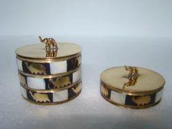 Brass MOP Trinket Box