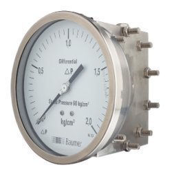 Baumer Differential Pressure Gauge Single Diaphragm Type