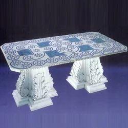 White Marble Table Base
