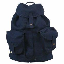 Large Denim Backpack