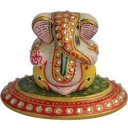 Marble Car Ganesh