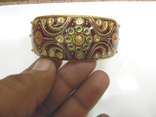 Kundan Meena Polki Bangle