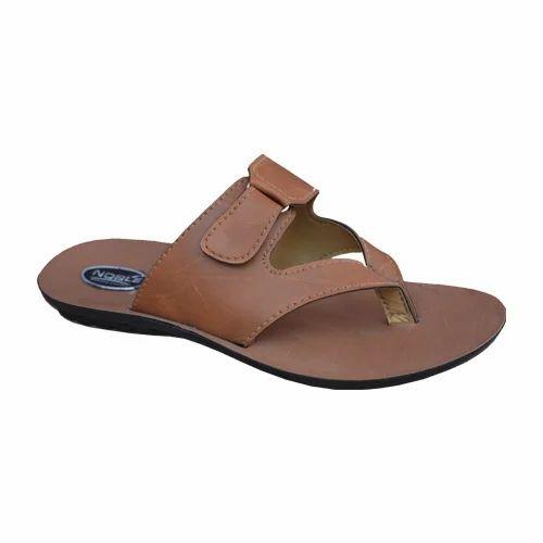 Men Brown Office Chappal, Gents Sandals
