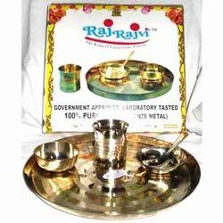 Raj Rajvi Bronze Thali Set