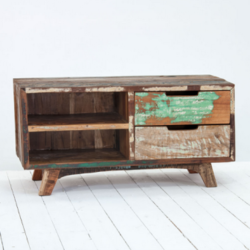 Colorful Reclaimed Wood Plazma Furniture