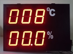 Temperature Monitoring Display for Industries