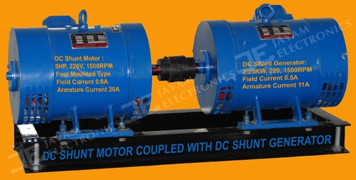 DC Shunt Motor Coupled with DC Shunt Generator