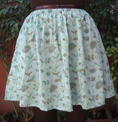 Hand Block Print Beach Wear Skirt