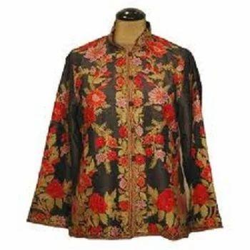 Ari Embroidered Silk Jacket