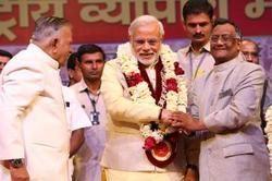 Shri Narendra Modi with Shri B.C. Bhartiaji