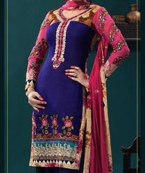 Pink And Blue Designer Suit