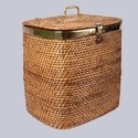 Rectangular Wicker Laundry Basket
