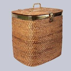 Rectangular Wicker Laundry Basket